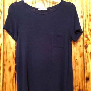 Women's Navy Forever21 Pocket Tee Size M